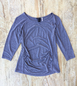 Cropped Sleeve Grey Top (S)