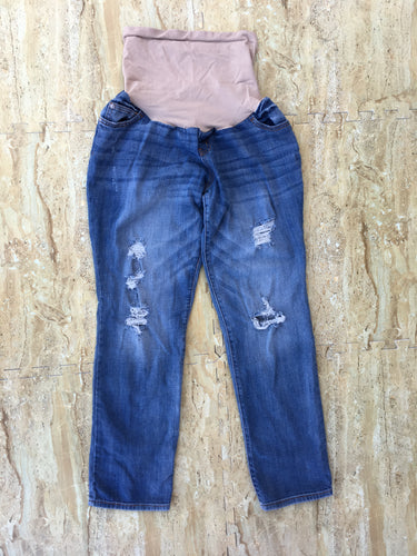 Indigo Blue Distressed Denim (L)