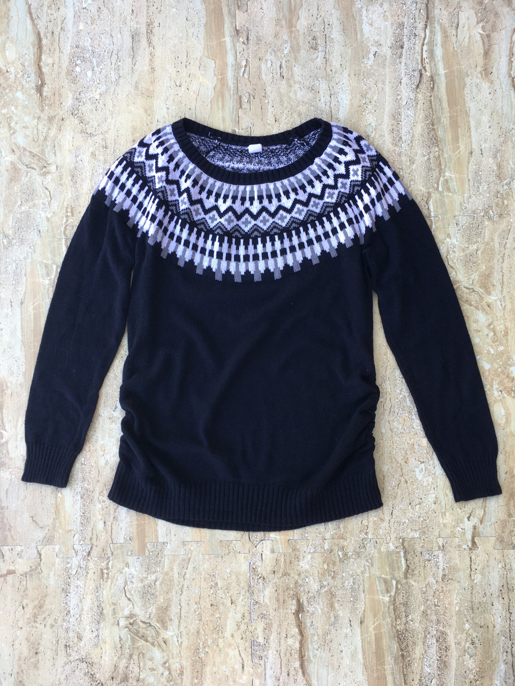 Patterned Knit Sweater (S)