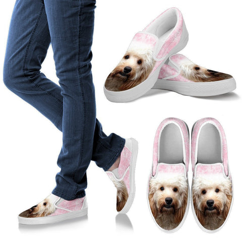 Cockapoo Print Slip Ons For Women- Express Shipping