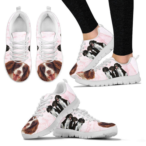 English Springer Spaniel Print Sneakers For Women- Free Shipping