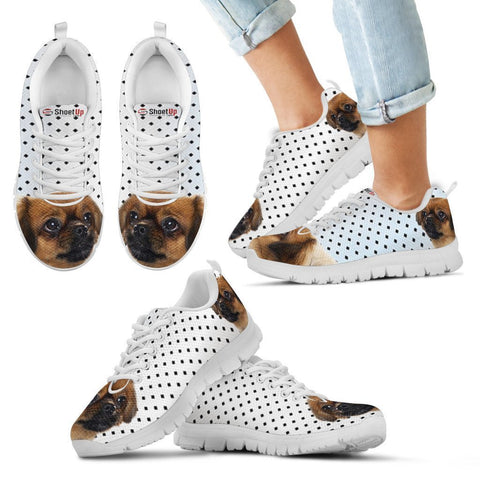 Tibetan Spaniel Black Dots Print Running Shoes For Kids-Free Shipping