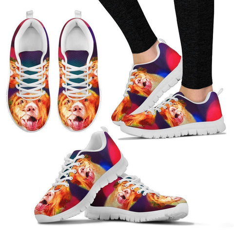 Nova Scotia Duck Tolling Retriever Disco Lights Print Running Shoes For Women-Free Shipping