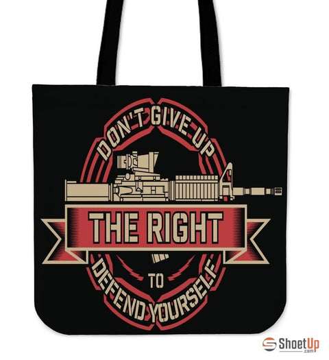 Don't Give Up- Tote Bag- Free Shipping