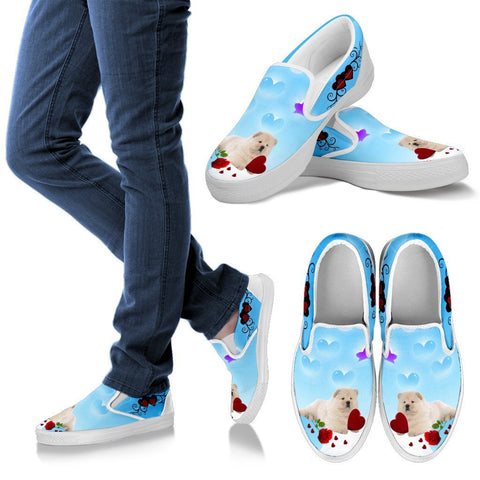 Valentine's Day Special-Chow Chow Dog Print Slip Ons For Women-Free Shipping