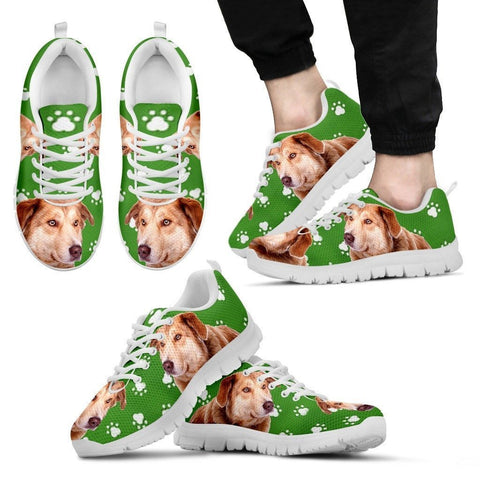 Aidi Dog Print (Black/White) Running Shoes For Men-Limited Edition-Express Shipping