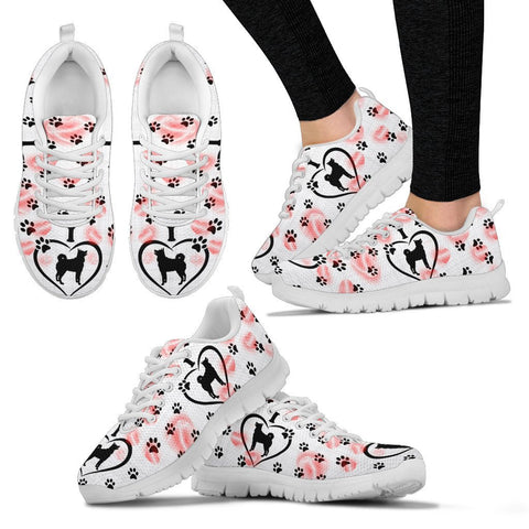 Valentine's Day Special-Norwegian Elkhound Print Running Shoes For Women-Free Shipping
