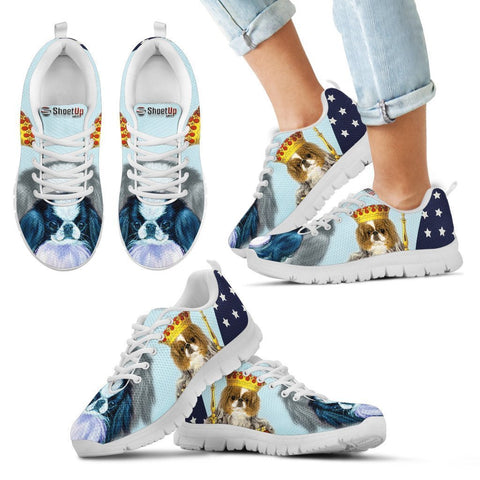 Japanese Chin Print Running Shoes For Kids- Free Shipping