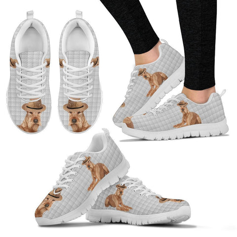 Irish Terrier With Hat Print Running Shoes For Women-Free Shipping