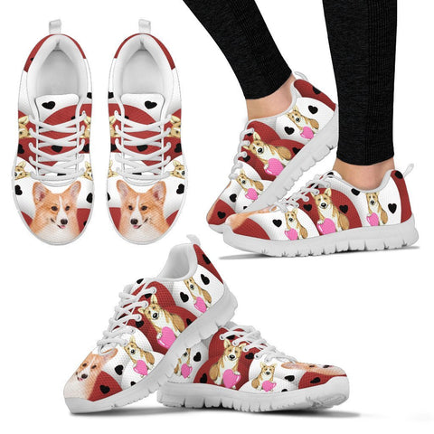 Valentine's Day Special-Pembroke Welsh Corgi Print Running Shoes For Women-Free Shipping