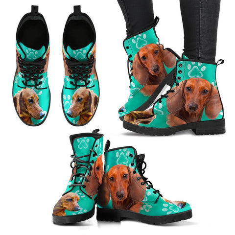 Paws Print Dachshund Boots For Women-Express Shipping