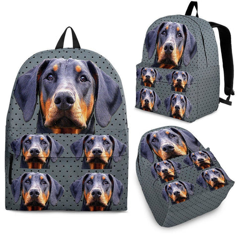 Doberman Pinscher Dog Print Backpack-Express Shipping