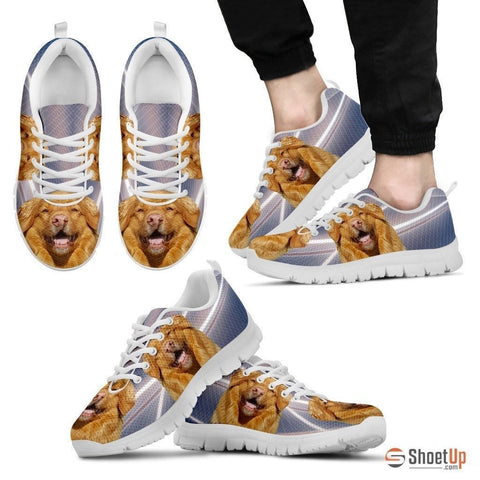 Customized Dog Print (White/Black) Running Shoes For Men-Free Shipping Limited Edition-Designed By Raffaella Belletti(2032)