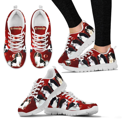 Japanese Chin On Red-Women's Running Shoes-Free Shipping