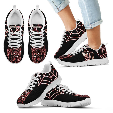 Yorkshire Terrier Halloween Themed Print Running Shoes For Kids- Free Shipping