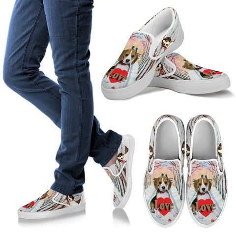 Valentine's Day Special-Beagle Print Slip Ons For Women-Free Shipping