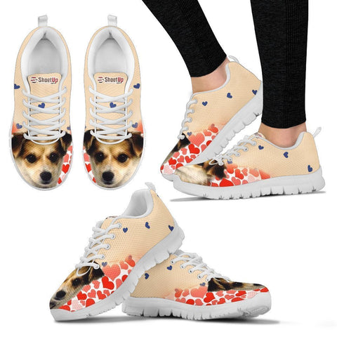 Customized Dog Print Running Shoes For Women- Design By Sandy Hunter-Express Shipping