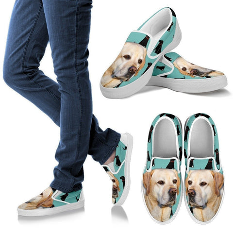 Labrador Print Slip Ons For Women- Express Shipping