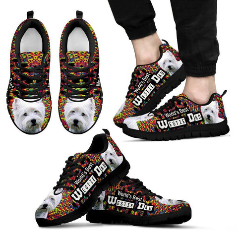 'World's Best West Highland White Terrier Dad' Running Shoes-Father's Day Special