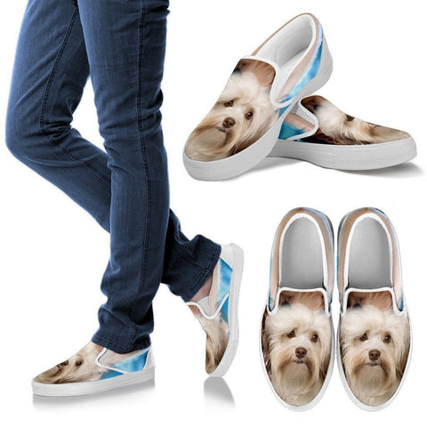Cute Havanese Print Slip Ons For Women- Express Shipping