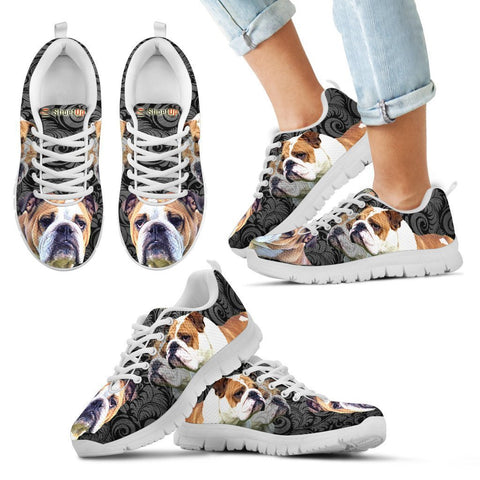Bulldog Print-Kid's Running Shoes-Free Shipping