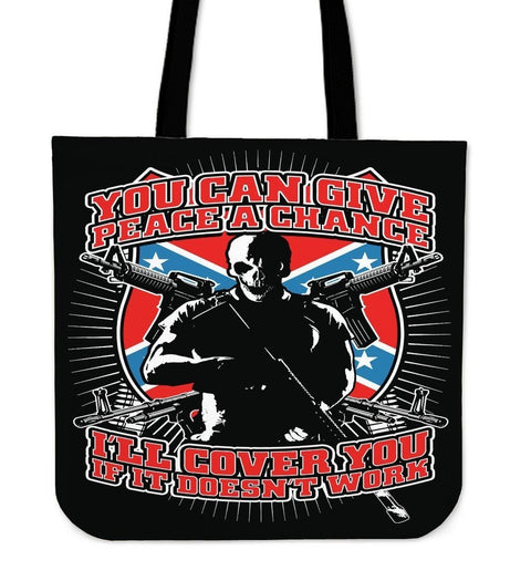 You Can Give Peace A Chance-Tote Bag-Free Shipping