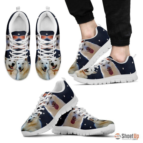 Customized(2093) Dog -(White/Black) Running Shoes For Men-Free Shipping