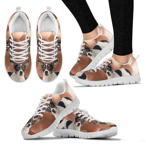 Teddy Roosevelt Terrier Print (White/Black) Running Shoes For Women-Express Shipping