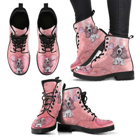 Valentine's Day Special-Basset Hound Print Boots For Women-Free Shipping
