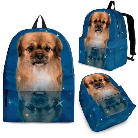 Tibetan Spaniel Dog Print Backpack-Express Shipping