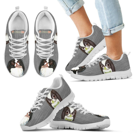 Japanese Chin Print-Kid's Running Shoes-Free Shipping