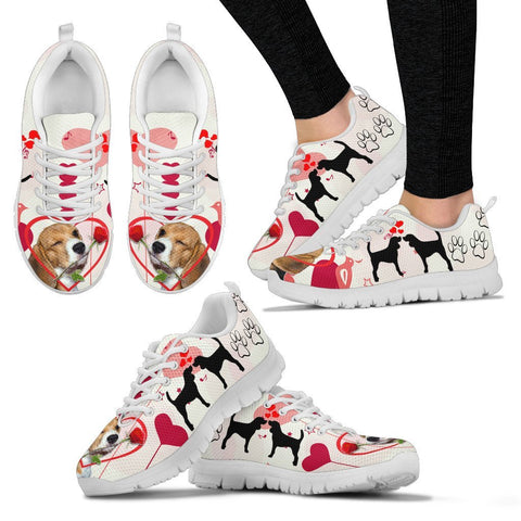 Valentine's Day Special Beagle Dog Print Running Shoes For Women- Free Shipping