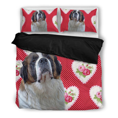 Valentine's Day Special- St. Bernard Dog Print Bedding Set-Free Shipping