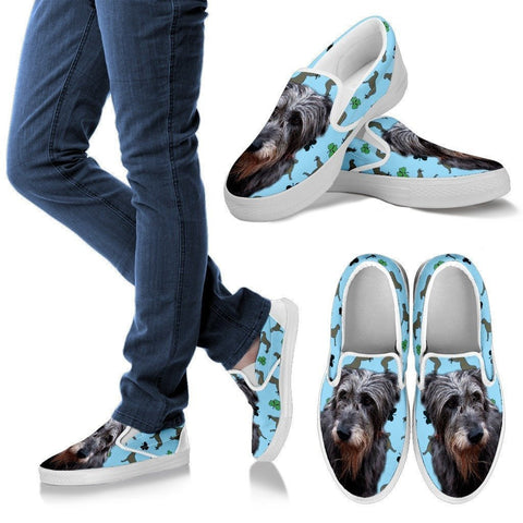 Irish Wolfhound Print Slip Ons For Women- Express Shipping