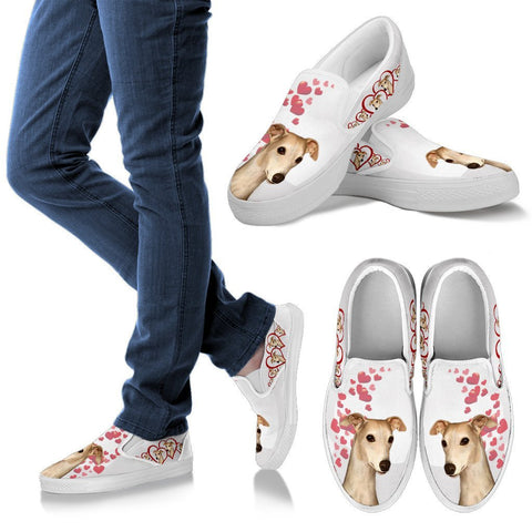 Valentine's Day Special-Whippet Dog Print Slip Ons For Women-Free Shipping