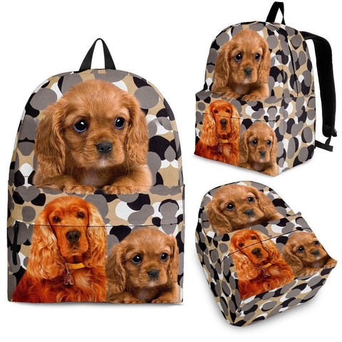 English Cocker Spaniel Dog Print Backpack-Express Shipping