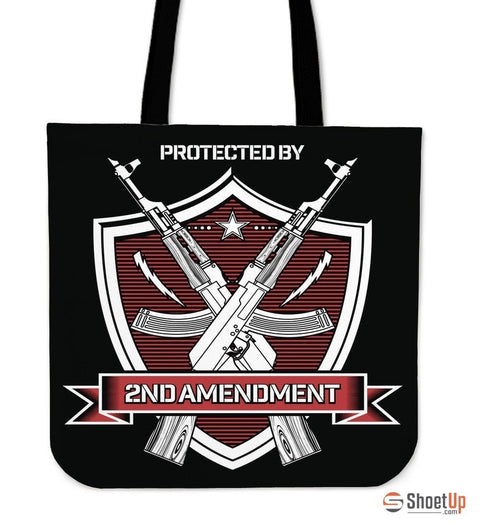 Protected By 2nd Amendment-Tote Bag-Free Shipping
