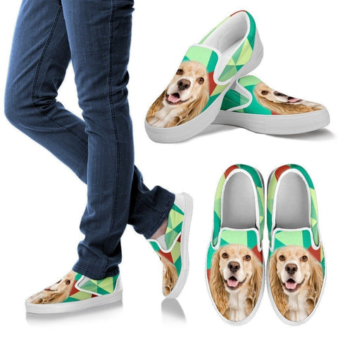 Cocker Spaniel Print Slip Ons For Women-Express Shipping
