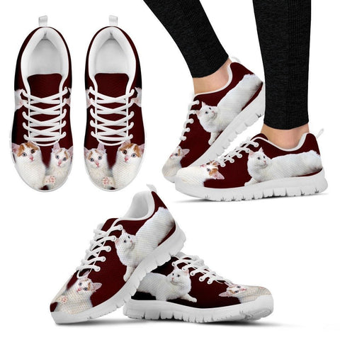 Cute Turkish Van Cat Print Sneakers For Women(White)- Free Shipping