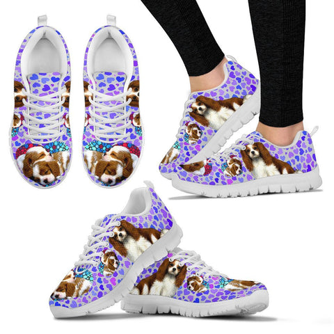 Valentine's Day Special-Cavalier King Charles Spaniel Print Running Shoes For Women-Free Shipping