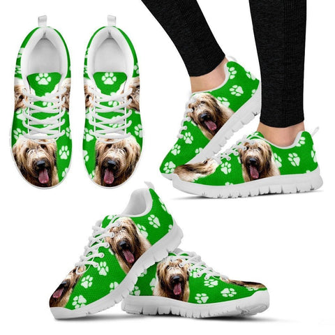 Briard Dog Print (Black/White) Running Shoes For Women-Express Shipping