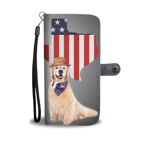 Lovely Golden Retriever Print Wallet Case-Free Shipping-TX State