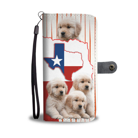Golden Retriever Puppies Print Wallet Case-Free Shipping-TX State
