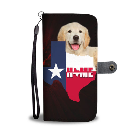 Golden Retriever Dog (Attitude) Print Wallet Case-Free Shipping-TX State