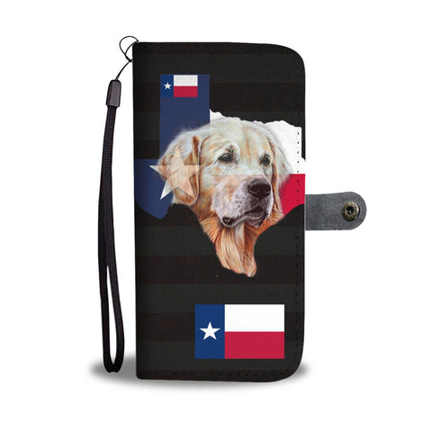 Golden Retriever Dog (TX Strong) Print Wallet Case-Free Shipping-Tx State