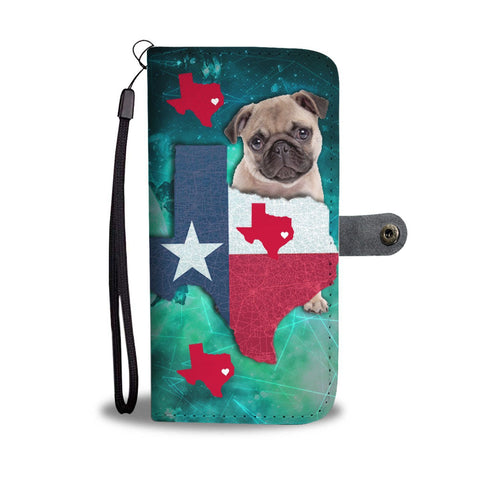 Awesome Pug Dog Print Wallet Case-Free Shipping-TX State