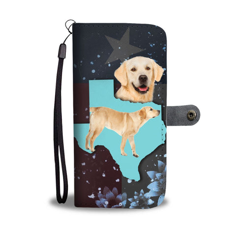 Lovely Labrador Retriever Dog Print Wallet Case-Free Shipping-TX State