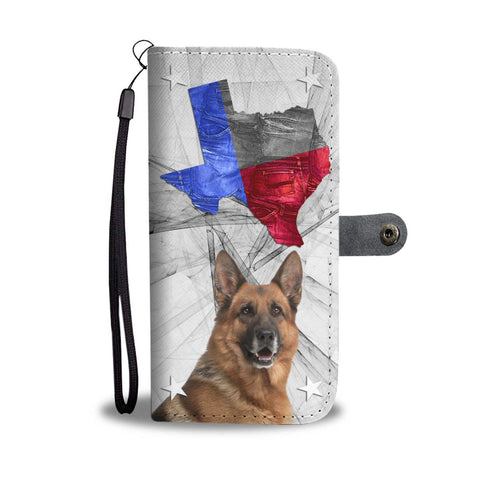 German Shepherd Print Wallet Case-Free Shipping-TX State