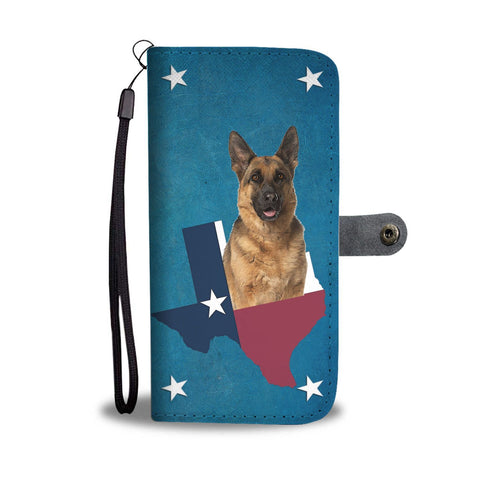 Lovely German Shepherd Print Wallet Case-Free Shipping-TX State