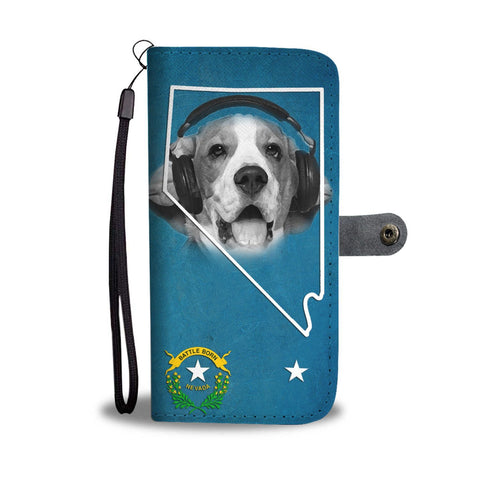 Beagle Print Wallet Case- Free Shipping-NV State